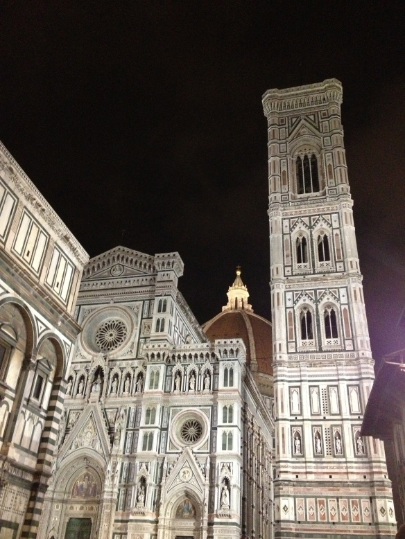 The Duomo at night!