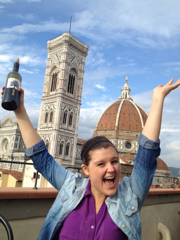 Wine? Check. Duomo? Check. Loving life in Italy? Checkmate.