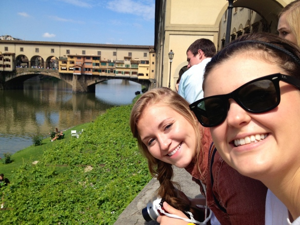 Panc and Courtney enjoying a beautiful day in Florence!