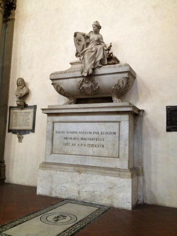 The tomb of Machiavelli. Also known as the inspiration for Tupac's revival, coming in 2014. Beware.