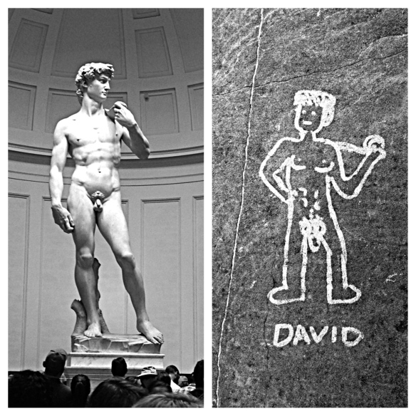 Somebody came very close to repeating Michelangelo's work. Bravo, little David.
