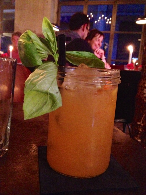 Thai basil sangria...so good.