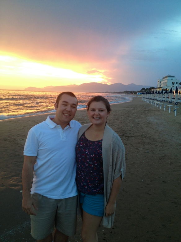Courtney and I on the beach!