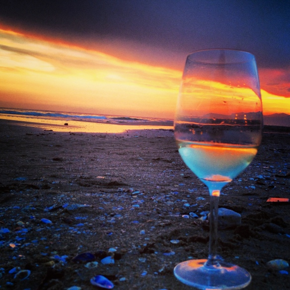 Italian sunset, Italian beach, Italian wine; the life.