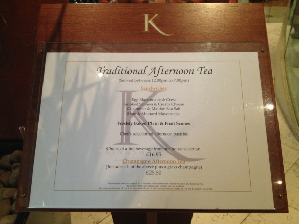 Afternoon Tea menu!